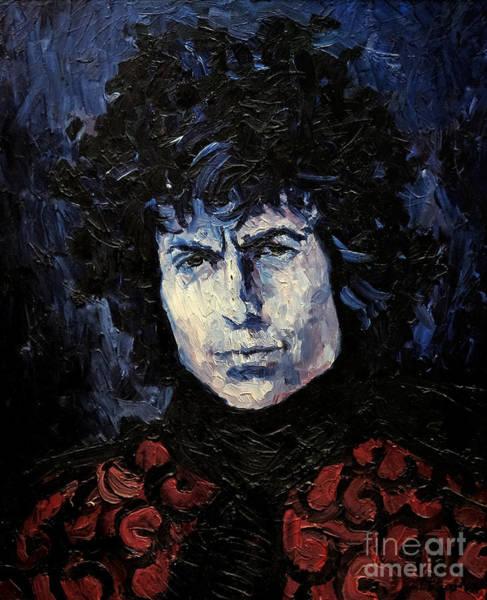 Painting - Bob Dylan 1967 by Lutz Baar