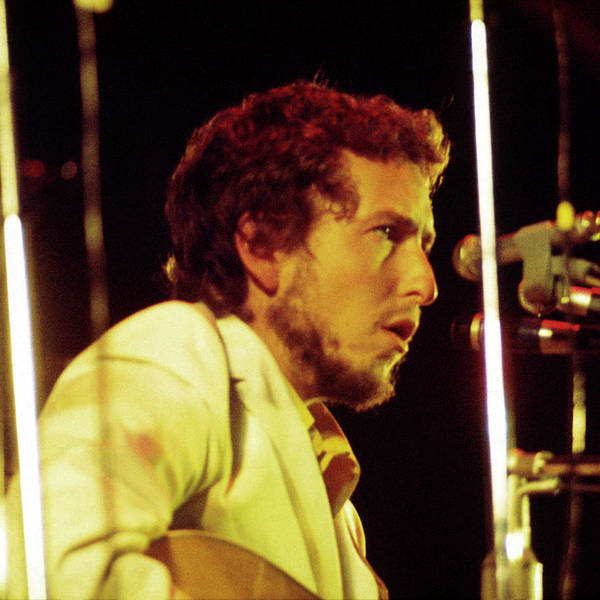 Photograph - Bob Dylan 1969 Isle Of Wight No3 -square by Chris Walter