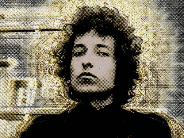 Painting - Bob Dylan 2 by Tony Rubino