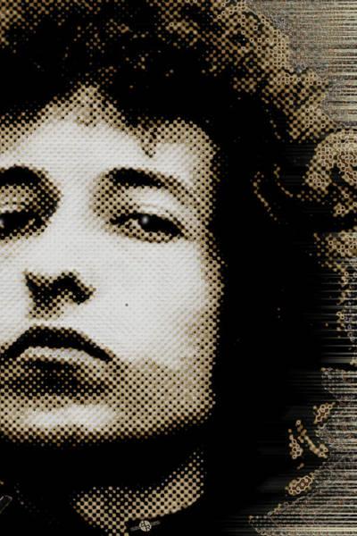 Painting - Bob Dylan 4 Vertical by Tony Rubino