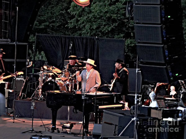 Photograph - Bob Dylan  At Cuthberg Amphitheater In Eugene by Tanya Filichkin
