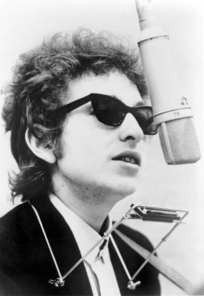 Wall Art - Photograph - Bob Dylan B. 1941 With Harmonica by Everett