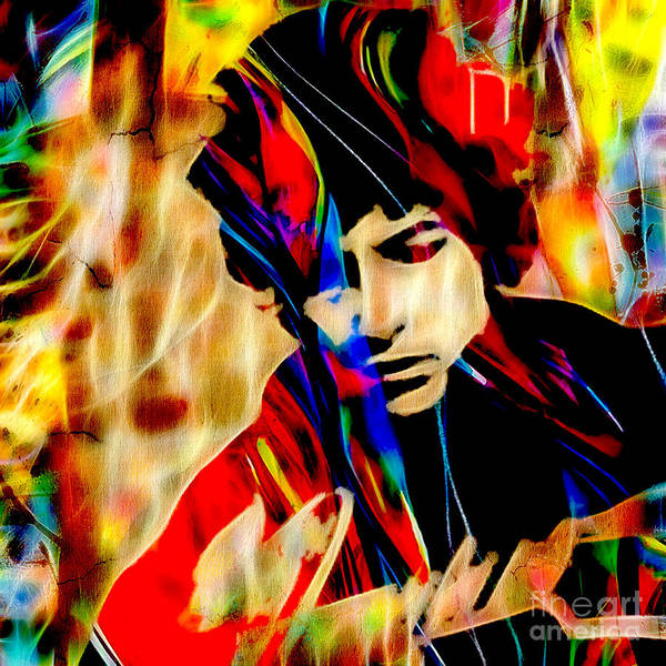 Folk Singer Mixed Media - Bob Dylan Collection by Marvin Blaine