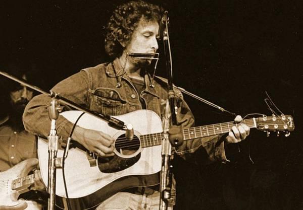 Wall Art - Painting - Bob Dylan Early Years by John Malone