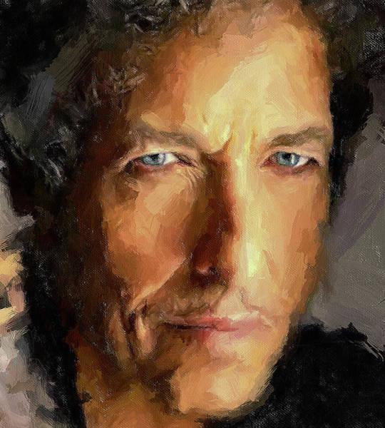 Voices Digital Art - Bob Dylan Impressive by Yury Malkov
