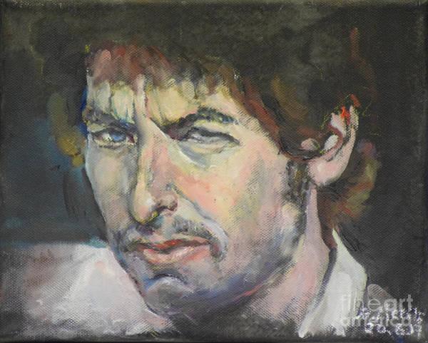 Painting - Bob Dylan by Raija Merila