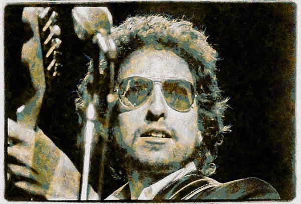 Bob Dylan Digital Art - Bob Dylan by Galeria Trompiz
