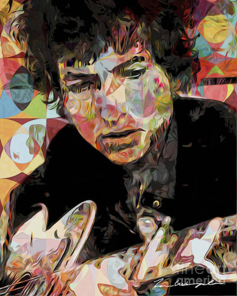 Digital Art - Bob Dylan by Tim Wemple