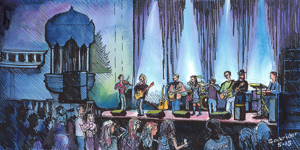 Painting - Bob Dylan Tribute Show by David Sockrider