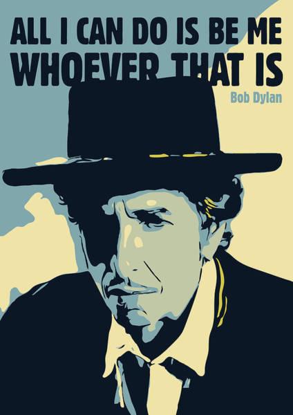 Bob Dylan Digital Art - Bob Dylan by Greatom London