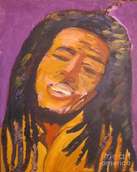 The Wailers Painting - Bob by Jennylynd James