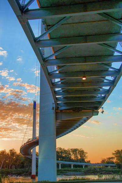 Bob Kerry Bridge At Sunrise-2 Art Print