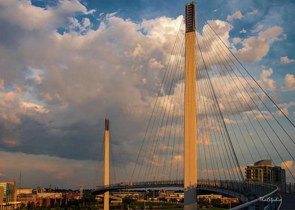 Bob Kerry Bridge At Sunrise-3 Art Print