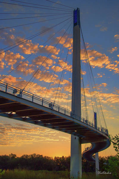 Bob Kerry Bridge At Sunrise Art Print