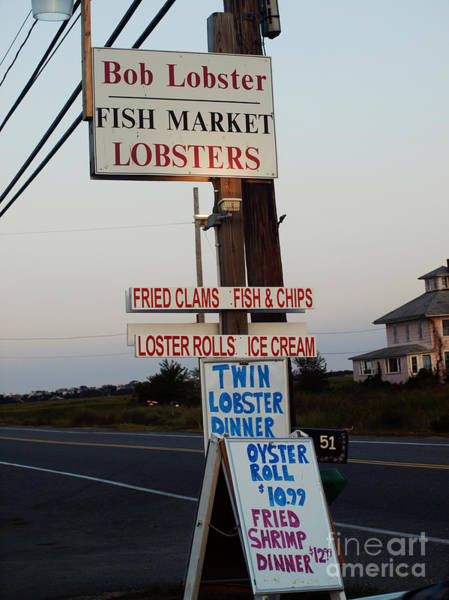 Bob Lobster Fish Market Art Print