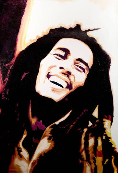 Reggae Painting - Bob Marley - Orange by Jocelyn Passeron