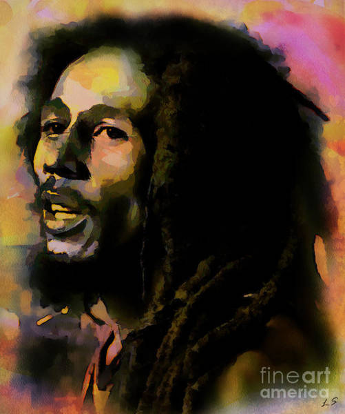 The Wailers Painting - Bob Marley Collection - 1 by Sergey Lukashin