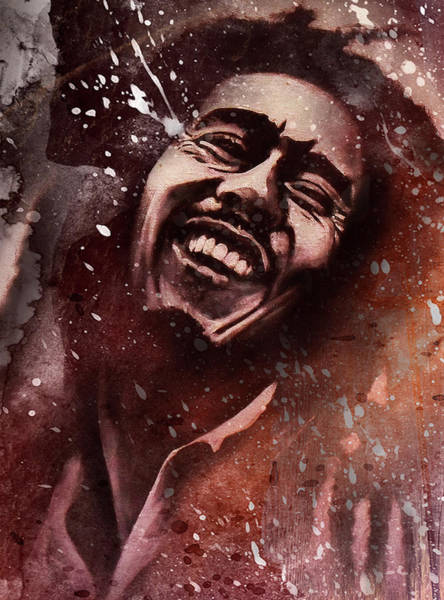 The Wailers Painting - Bob Marley 2 by Stephen Humphries