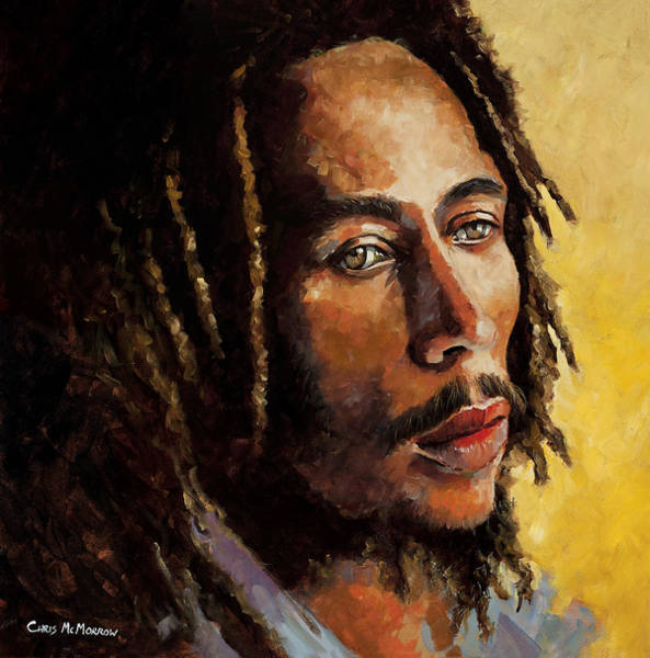 Rasta Painting - Bob Marley by Chris Mc Morrow