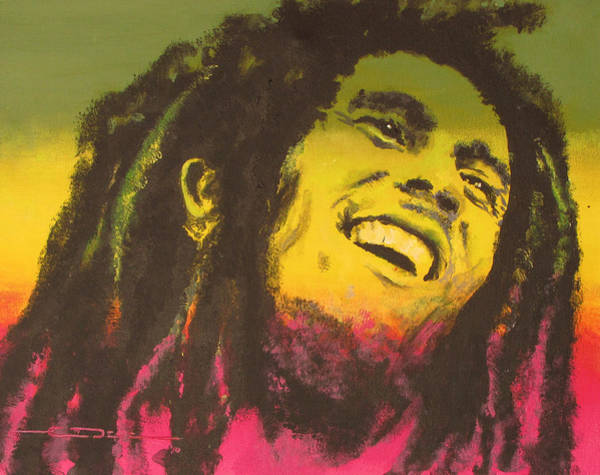 The Wailers Painting - Bob Marley by Eric Dee