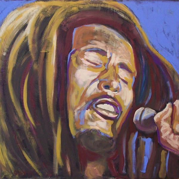Rasta Painting - Bob Marley by Buffalo Bonker