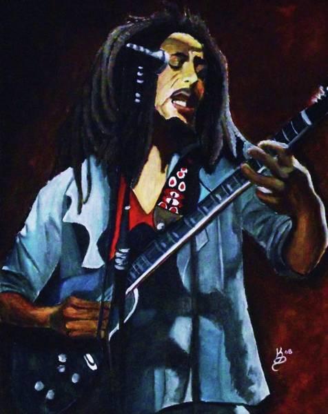 Wall Art - Painting - Bob Marley by Kim Selig