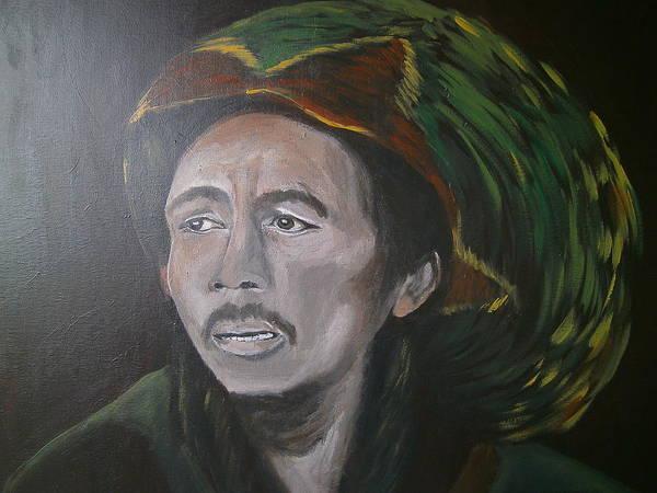 The Wailers Painting - Bob Marley by Linda Dekker