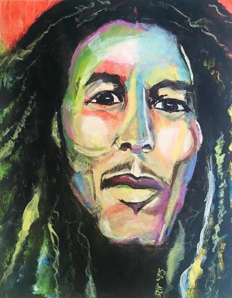 The Wailers Painting - Bob Marley Redemption by Rachel  Trapp