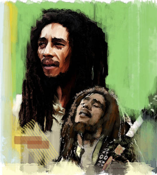 Pink Floyd Painting - Bob Marley Spiritual Fire by Iconic Images Art Gallery David Pucciarelli