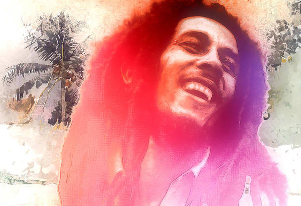 Wall Art - Painting - Bob Marley by Steve K