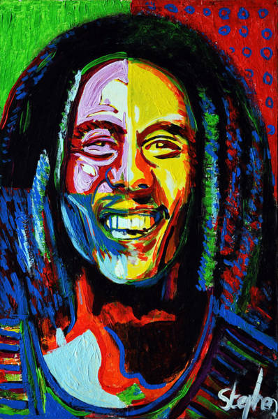 The Wailers Painting - Bob Marley by Stephen Humphries
