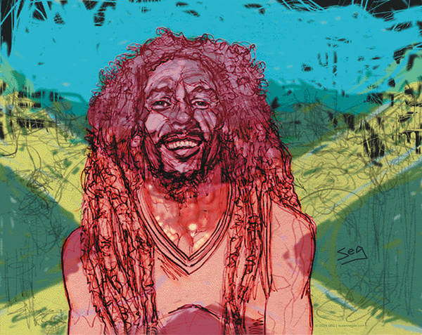 The Wailers Painting - Bob Marley by Suzanne Gee