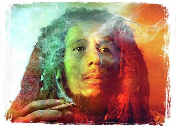 Marijuana Mixed Media - Bob Marley, Legend by Mal Bray