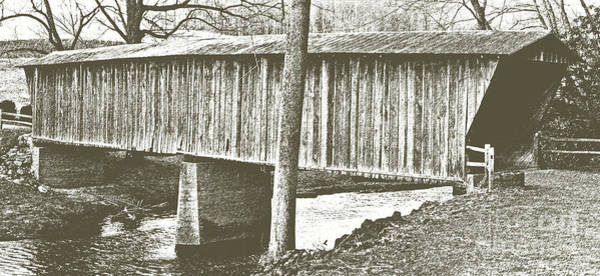 Walnut Mixed Media - Bob White Covered Bridge by Eric Liller