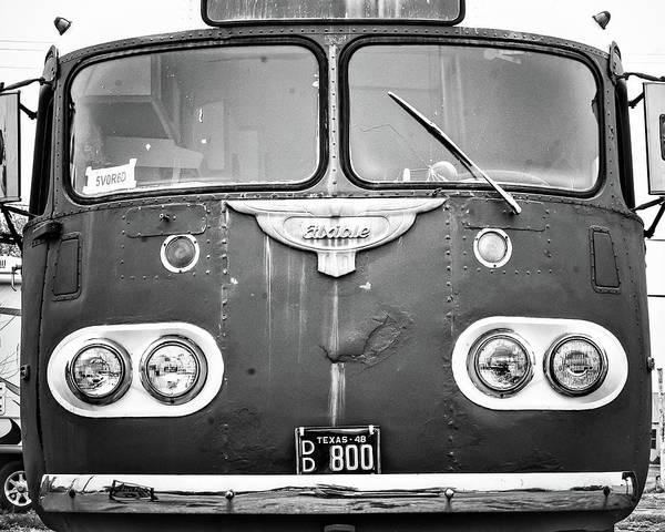 Photograph - Bob Wills Tour Bus Bw by Adam Reinhart