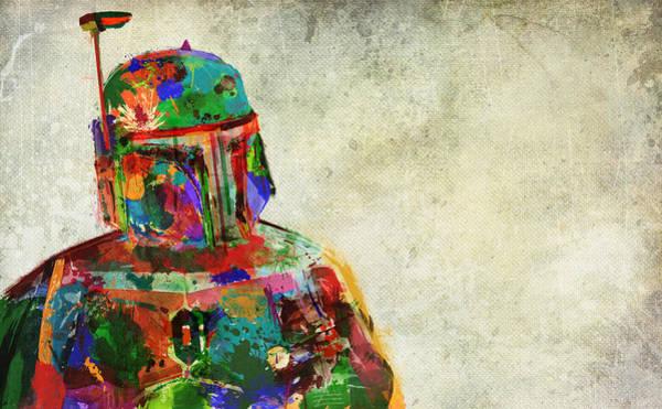 Lone Digital Art - Boba Fett In Colour by Mitch Boyce