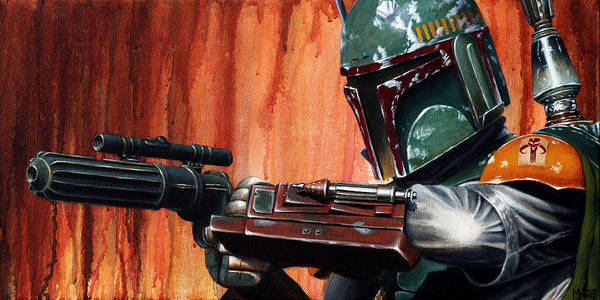 Star Wars Movie Painting - Boba Fett by Marlon Huynh
