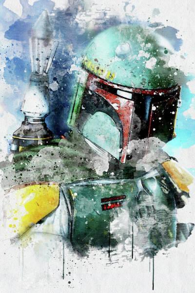 First Star Drawing - Boba Fett - Star Wars by Jeffrey St Romain