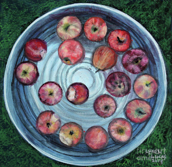 Bobbing For Apples Wall Art - Painting - Bobbing For Apples by Lyric Lucas