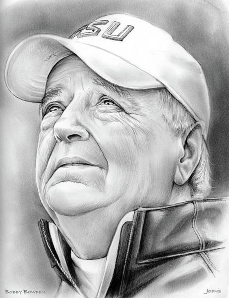 Wall Art - Drawing - Bobby Bowden by Greg Joens