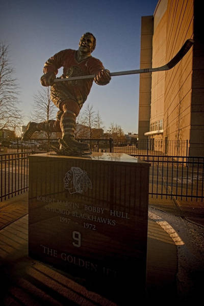 Photograph - Bobby Hull Sculpture by Sven Brogren