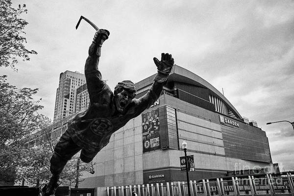 Wall Art - Photograph - bobby orr statue outside TD garden arena home to the boston bruins and boston celtics Boston USA by Joe Fox