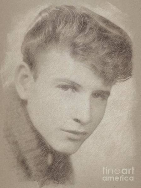 Wizard Drawing - Bobby Rydell, Musician by Frank Falcon