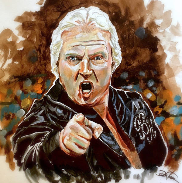 Painting - Bobby The Brain Heenan by Joel Tesch