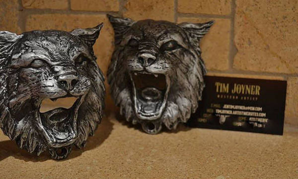 Sculpture - Bobcat by Tim  Joyner