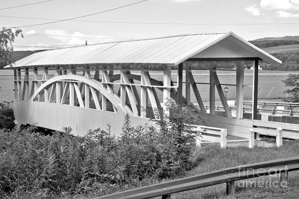 Osterburg Photograph - Bobs Creek Covered Bridge Black And White by Adam Jewell