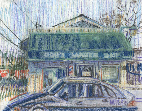 Shops Drawing - Bob's by Donald Maier