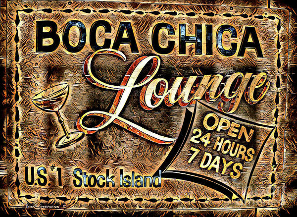Cocktail Lounge Photograph - Boca Chica Lounge Stock Island Florida Keys by John Stephens
