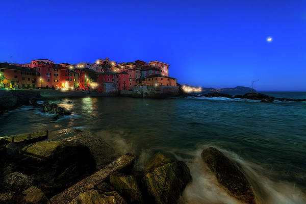 Photograph - Boccadasse By Night by Enrico Pelos