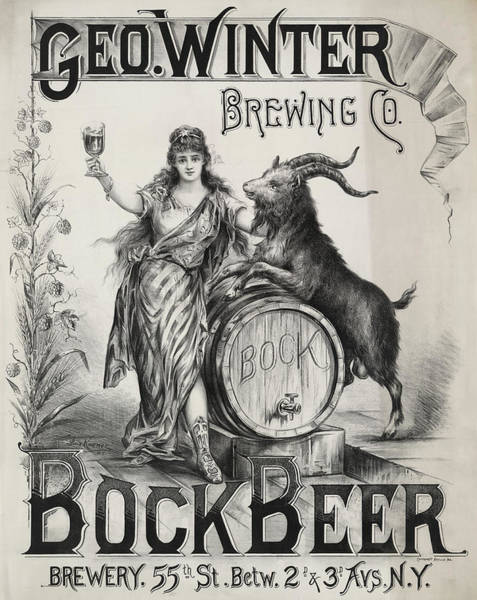 Wall Art - Photograph - Bock Beer Brewery 1899 by Daniel Hagerman